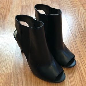 Vince Camuto Shoes - NEW Vince Camuto KYLIE Peep Toe Leather Booties